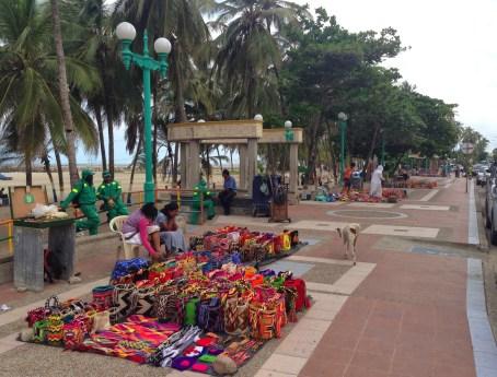 Mochila vendors in Riohacha, La Guajira, Colombia