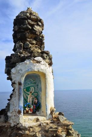 Shrine to La Virgen de Fátima at Pilón de Azúcar, La Guajira, Colombia