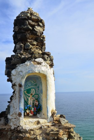 Shrine to La Virgen de Fátima at Pilón de Azúcar, La Guajira, Colombia