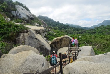 The trail at Tayrona National Park in Colombia