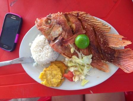 Lunch at Hostal Playa Blanca, Isla de Barú, Colombia