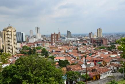 View of Cali from Colina de San Antonio in Cali, Colombia