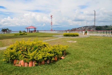 Park at Cristo Rey de Belalcázar in Colombia