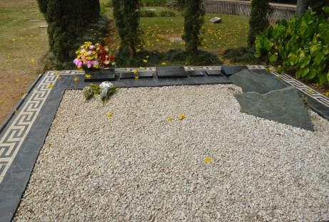 Pablo Escobar's Grave at Cementerio Jardines Montesacro in Itagüí, Antioquia, Colombia