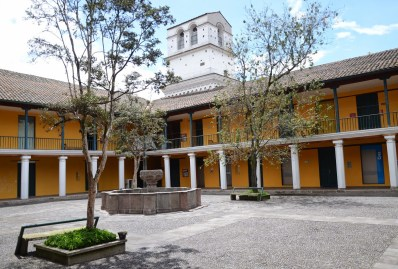 Courtyard of the Museo de la Ciudad in Quito, Ecuador