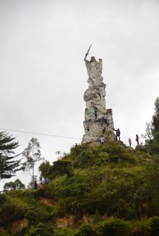 Statue at Las Lajas near Ipiales, Nariño, Colombia