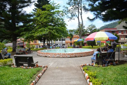 Plaza in La Celia, Risaralda, Colombia
