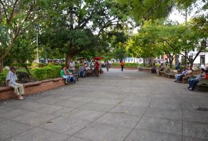 Parque de Bolívar in Cartago, Valle del Cauca, Colombia