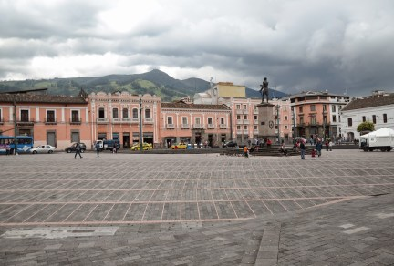 Plaza de Santo Domingo in Quito, Ecuador