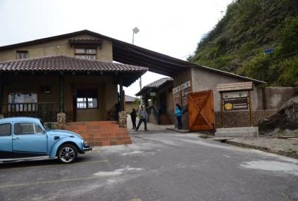 Entrance to Pululahua in Ecuador