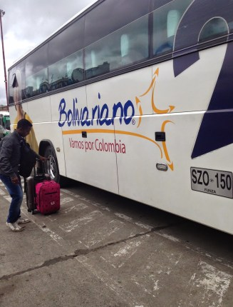 Bolivariano bus in Ipiales, Colombia