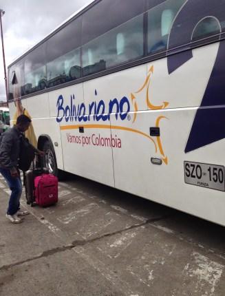 Bolivariano bus in Ipiales, Colombia