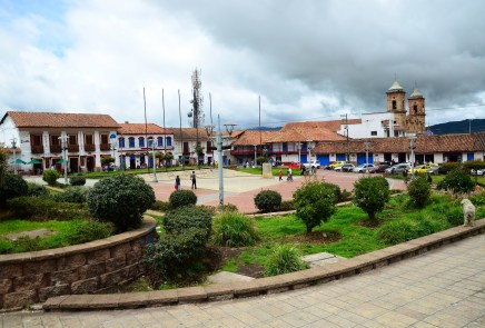 Plaza de la Independencia in Zipaquirá, Cundinamarca, Colombia