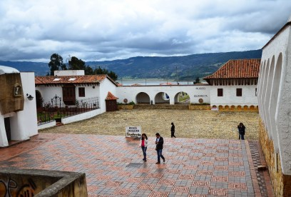 Plaza and museum in Guatavita, Cundinamarca, Colombia