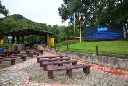Laguna de Guatavita Entrance in Colombia