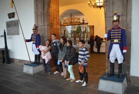 Guards at Palacio de Carondelet on Plaza Grande in Quito, Ecuador