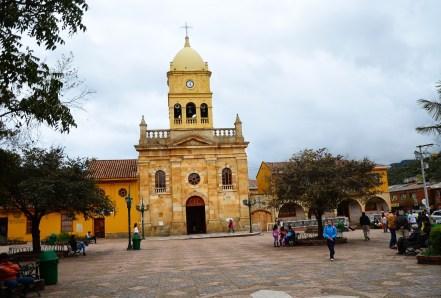Plaza in La Calera, Cundinamarca, Colombia