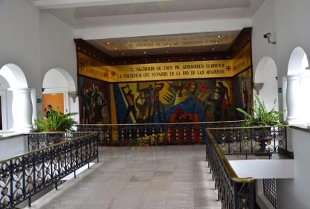 Mosaic by Oswaldo Guayasamín at Palacio de Carondelet on Plaza Grande in Quito, Ecuador