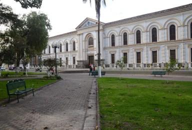 Parque Pedro Moncayo in Ibarra, Ecuador