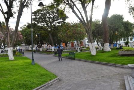 Parque La Merced in Ibarra, Ecuador