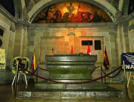 Mausoleum of Sucre at Catedral Metropolitana on Plaza Grande in Quito, Ecuador
