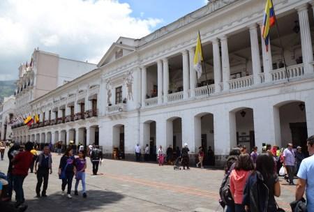 Palacio Arzobispal on Plaza Grande in Quito, Ecuador