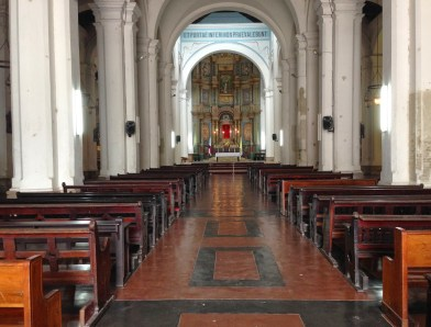 Catedral Metropolitana on Plaza Mayor in Casco Viejo, Panama City