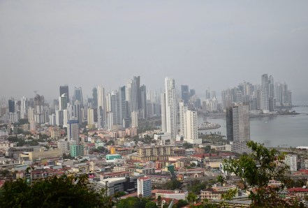 Panama City skyline from Cerro Ancón