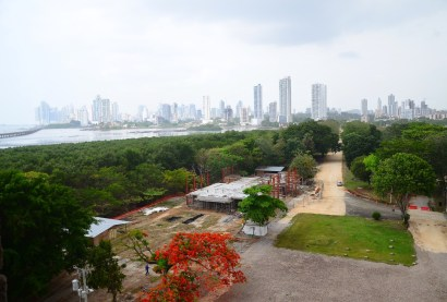 View from the bell tower of the Catedral de Nuestra Señora de la Asunción at Panama Viejo