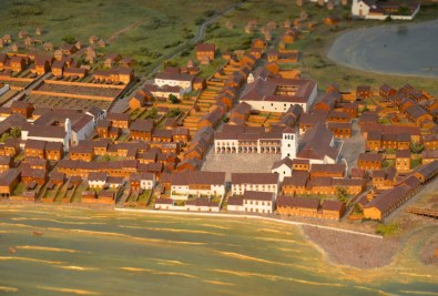 Scale model of old Panama City at the Museum at Panama Viejo