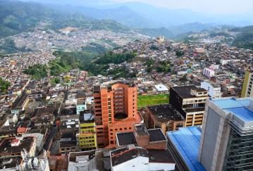 View from Catedral de Manizales at Plaza de Bolívar in Manizales, Caldas, Colombia