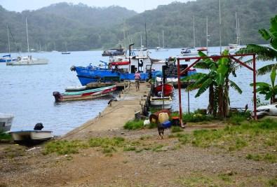 Dock in Portobelo, Panama