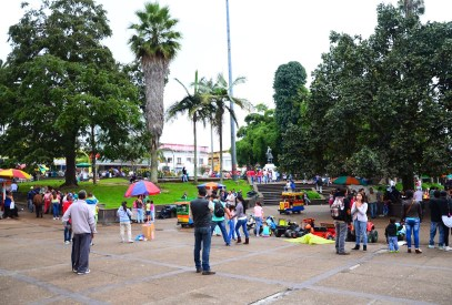 Plaza in Manizales, Caldas, Colombia