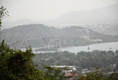 View of Bridge of the Americas from Cerro Ancón in Panama City