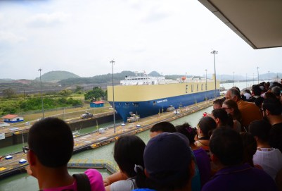 Miraflores Locks on the Panama Canal