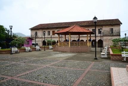 Plaza in Portobelo, Panama