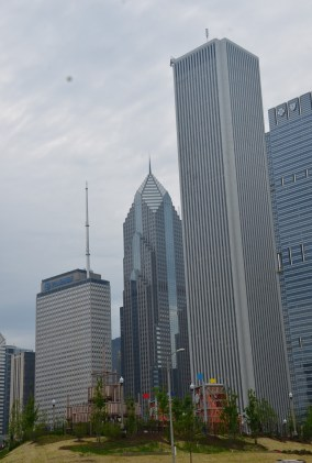 Prudential and Aon Center in Chicago