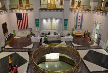 Lobby of the Harold Washington Library in Chicago
