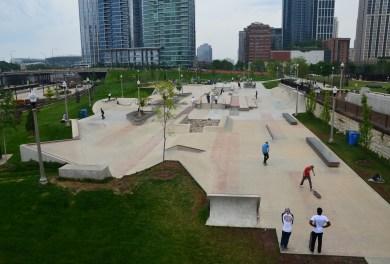 Skate Park in Grant Park Chicago