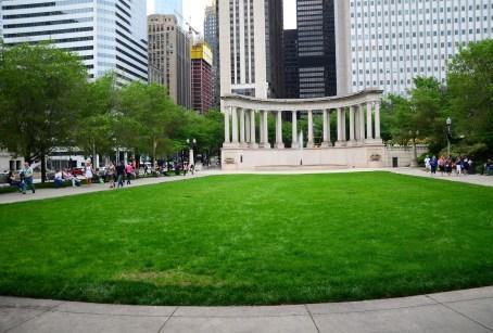 Wrigley Square at Millennium Park in Chicago