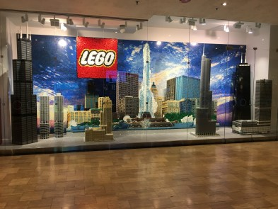Lego display at Water Tower Place in Chicago, Illinois