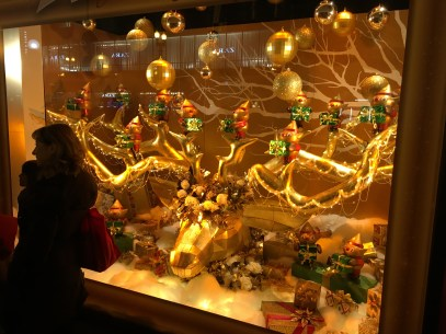 Holiday window display at Macy's in Chicago, Illinois