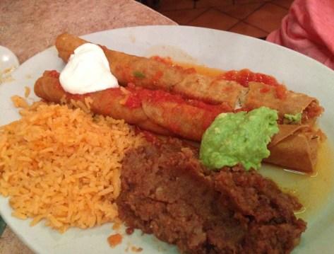 Flautas at Nuevo León Restaurant in Chicago