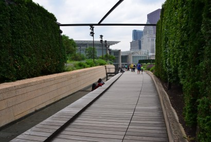 Lurie Garden at Millennium Park in Chicago