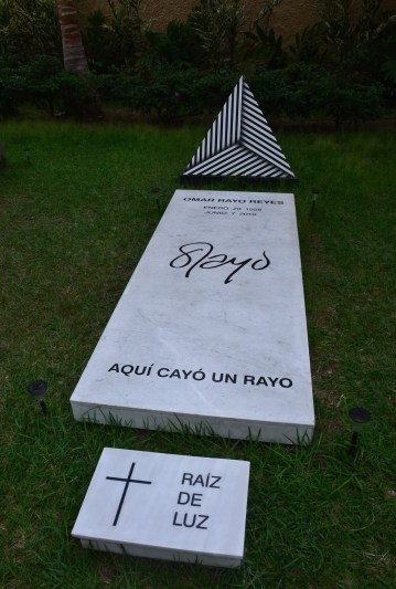 Tomb of Omar Rayo at Museo Rayo in Roldanillo