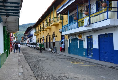 A street in Jardín, Antioquia, Colombia