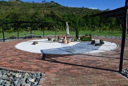 Zen garden at Parque Nacional de la Uva La Unión Valle del Cauca Colombia