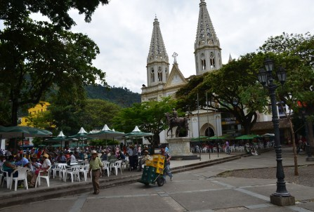 Plaza in Andes, Antioquia, Colombia