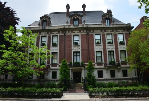 Original Playboy Mansion in the Gold Coast, Chicago, Illinois