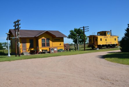 Brady Island Depot at Lincoln Country Historical Museum in North Platte Nebraska